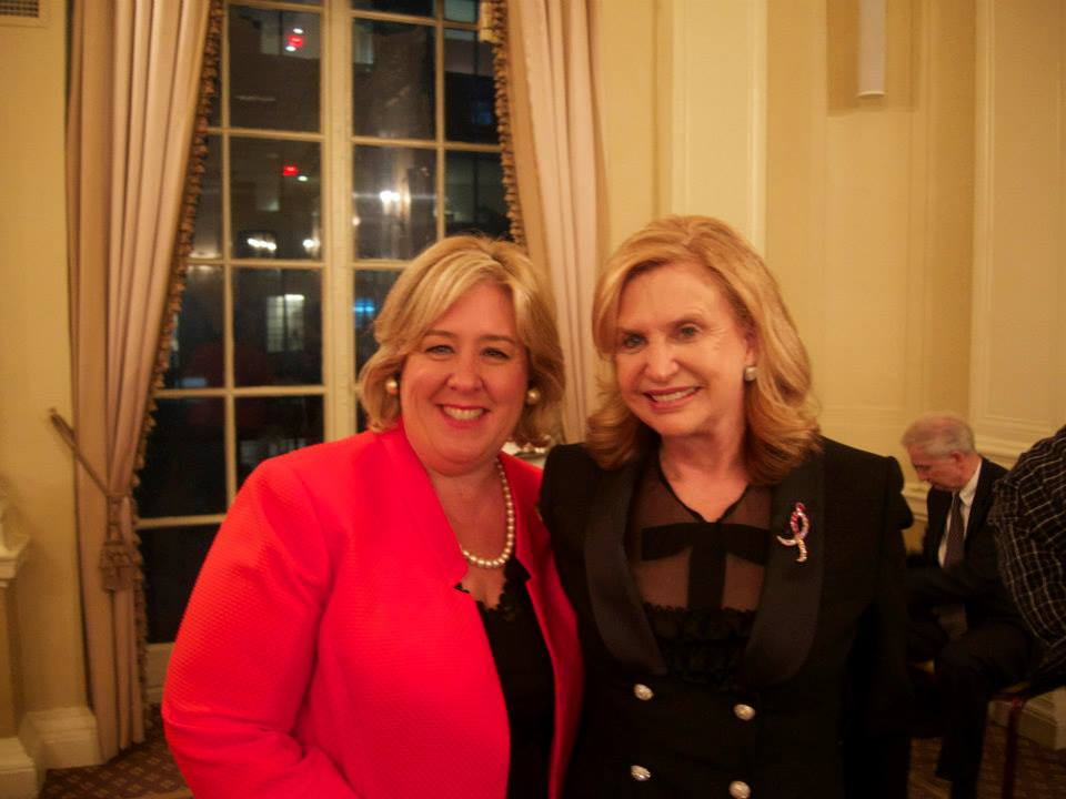 Rebecca Seawright and Carolyn Maloney